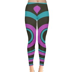 Distorted Concentric Circles Leggings