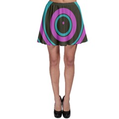 Distorted concentric circlesSkater Skirt