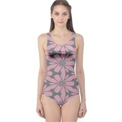 Pink flowers pattern Women s One Piece Swimsuit
