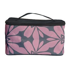 Pink flowers pattern Cosmetic Storage Case