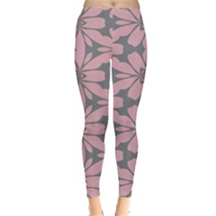 Pink Flowers Pattern Leggings