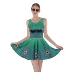 Peacock Green Skater Dress