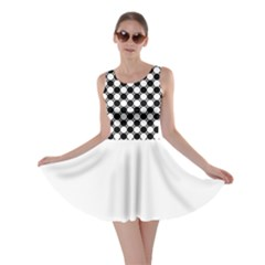 Black And White Polka Dots Skater Dress