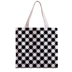 Black And White Polka Dots Grocery Tote Bag