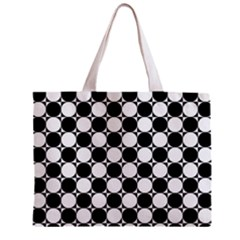 Black And White Polka Dots Tiny Tote Bag