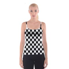 Black And White Polka Dots Spaghetti Strap Top