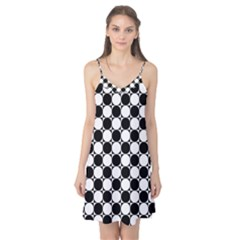 Black and White Polka Dots Camis Nightgown