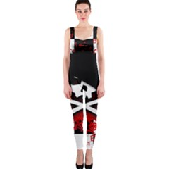 Emo Skull OnePiece Catsuit