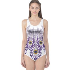 Peacock One Piece Swimsuit