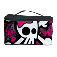 Girly Skull And Crossbones Cosmetic Storage Case