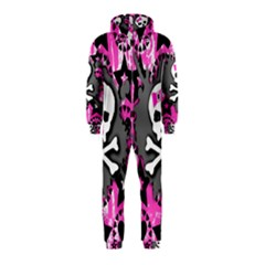 Pink Bow Skull Hooded Jumpsuit (Kids)