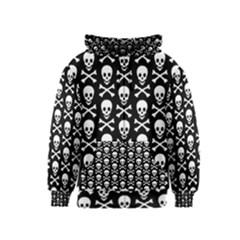 Skull And Crossbones Pattern Kids Zipper Hoodie