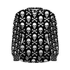 Skull and Crossbones Pattern Women s Sweatshirt