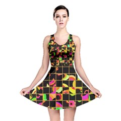 Pieces In Squares Reversible Skater Dress