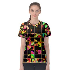 Pieces in squares Women s Sport Mesh Tee