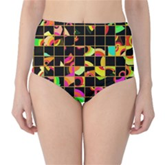Pieces in squares High-Waist Bikini Bottoms