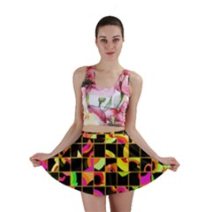 Pieces in squares Mini Skirt