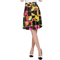 Pieces in squares A-line Skirt
