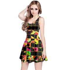 Pieces In Squares Sleeveless Dress