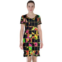 Pieces In Squares Short Sleeve Nightdress