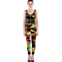 Pieces in squares OnePiece Catsuit