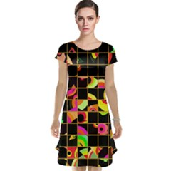 Pieces in squares Cap Sleeve Nightdress