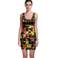 Pieces in squares Bodycon Dress