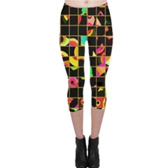 Pieces in squares Capri Leggings