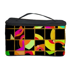 Pieces in squares Cosmetic Storage Case