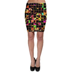 Pieces in squares Bodycon Skirt