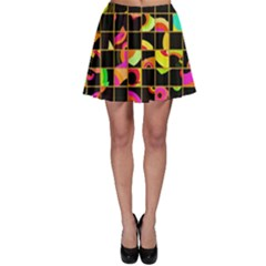 Pieces in squares Skater Skirt