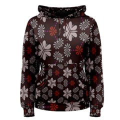 Floral Pattern On A Brown Background Pullover Hoodie