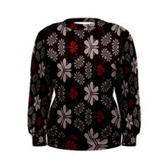 Floral pattern on a brown background Sweatshirt