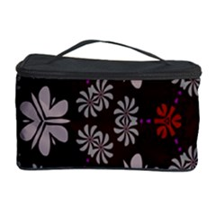 Floral Pattern On A Brown Background Cosmetic Storage Case