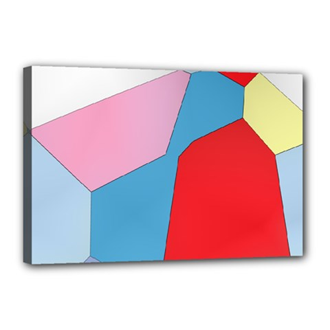 Colorful Pastel Shapes Canvas 18  X 12  (stretched)