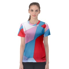 Colorful pastel shapes Women s Sport Mesh Tee