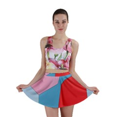 Colorful Pastel Shapes Mini Skirt