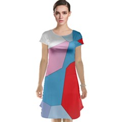 Colorful pastel shapes Cap Sleeve Nightdress