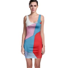 Colorful Pastel Shapes Bodycon Dress