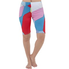 Colorful pastel shapes Cropped Leggings