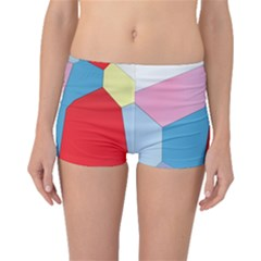 Colorful pastel shapes Boyleg Bikini Bottoms