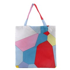 Colorful pastel shapes Grocery Tote Bag