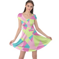 Abstraction Cap Sleeve Dress