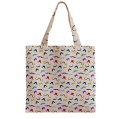Mustaches Grocery Tote Bag