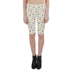 Mustaches Cropped Leggings