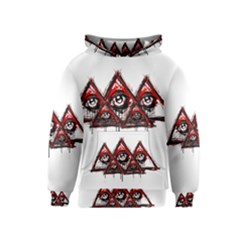 Red White pyramids Kid s Pullover Hoodie