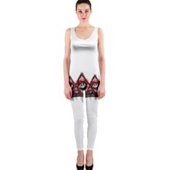 Red White Pyramids Onepiece Catsuit