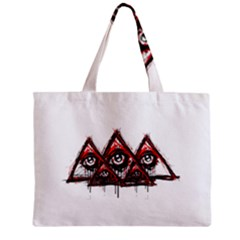 Red White pyramids Tiny Tote Bag