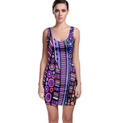Stained Glass Tribal Pattern Bodycon Dress