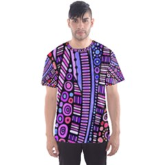 Stained glass tribal pattern Men s Sport Mesh Tee